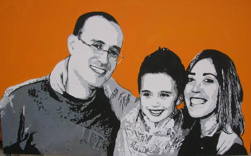 ritratto di famiglia da foto