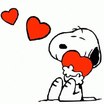 Snoopy cuori rossi