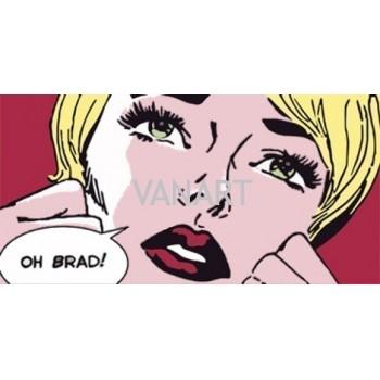 """Lichtenstein """"Oh Brad"""""""