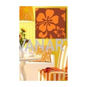 Quadro moderno fiori arancioni pop-art