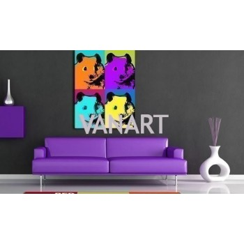 Quadro Hamster Pop-Art