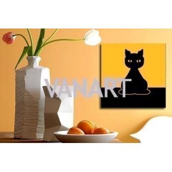 """Quadro """" Black Cat """""""