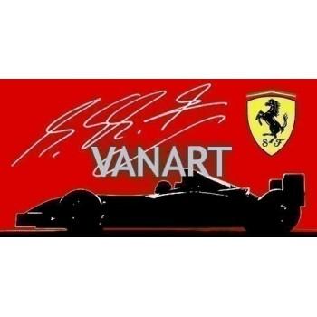 Quadro Ferrari Michael Schumacher