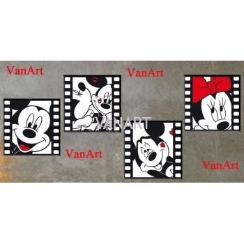 4 quadri topolino