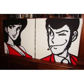 Quadro Lupin e Margot 2 tele