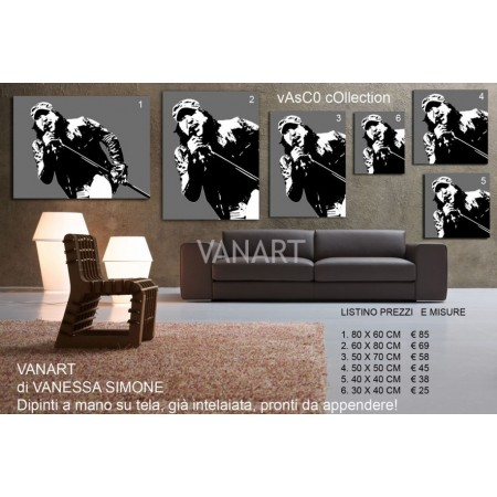 Quadro Vasco Rossi Collection