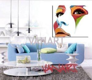 Dipinto a mano Colorface realizzato a mano in Italia. In vendita su www.vanartshop.it