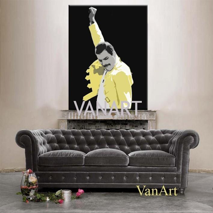 Freddie giallo 100x150 muro