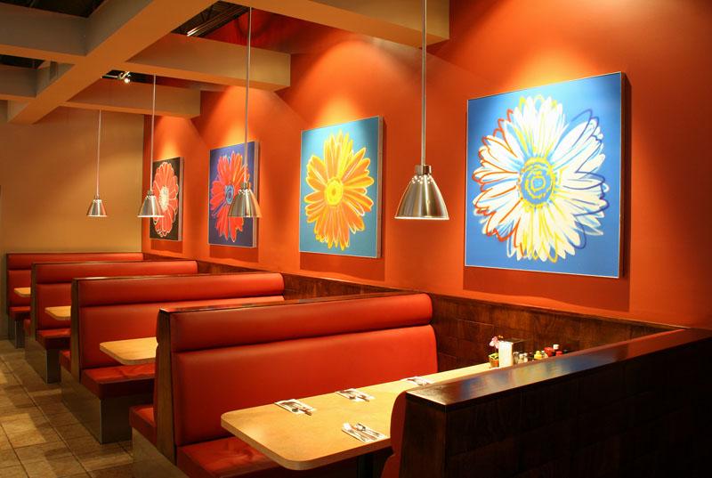 Arredamento Stile Pop Art : Arredamento per un ristorante a milano