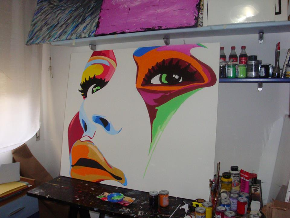 Dipinti a mano , un esempio il quadro Colorface