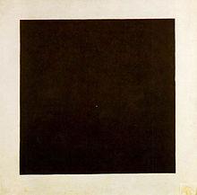 Esempio di arte suprematista. Quadro nero su fondo bianco, Malevič (1915)